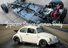 VW Beetle, with a 500 horsepower Subaru engine, that runs on E85.