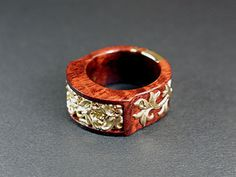 wood and gold ring