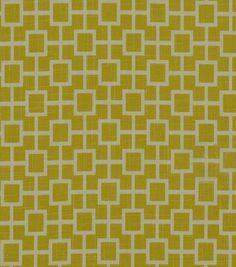 Home Decor Print Fabric-Robert Allen Cats Cradle Sunshine