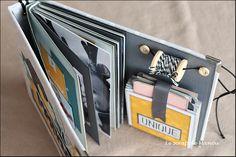 Scrapbooking Diy, Album Photo Scrapbooking, Mini Albums Scrapbook, Diy Stationery Set, Book Binding, Big Shot, Stamping Up, Mini Books, Album Photos