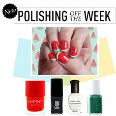 Polishing Off the Week by polyvore-editorial on Polyvore featuring beauty, Nails Inc., JINsoon, Essie, Deborah Lippmann, nailpolish, polishingofftheweek and newnownails