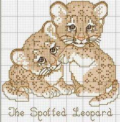 Schema punto croce Leopardos
