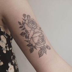 detailed peonies - tattoo people toronto - jess chen