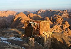 mount sinai, egypt: the best place to see sunrise on the mountain is said to be from this toilet, where the early-morning light floods through the bamboo walls. Places To Travel, Places To See, Beautiful World, Beautiful Places, Heiliges Land, Great View, Places Around The World, Cool Pictures, Africa