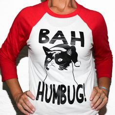 BAH HUMBUG Scrooge Unisex Baseball Tee  This 3/4 sleeve baseball tee is super soft!! Unisex sizing so size down for a fitted feel!  Custom