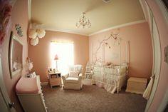 Beautiful baby girl nursery