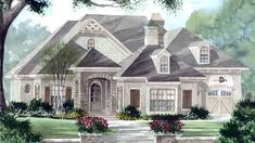 The Falkirk Ridge - Frank Betz Associates, Inc. | Southern Living House Plans 3574sqft, love the keeping room and details of vaulted ceilings. Nice covered porch. Huge bedrooms! 4 car garage! Twilight room?