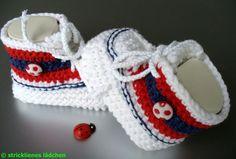 Babyschuhe  Fußball von stricklienes lädchen auf DaWanda.com