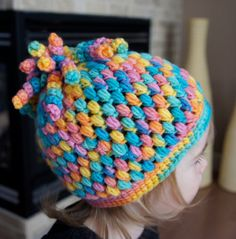 A Candy Bomb Girl's Crocheted Hat Child's Size by MayaBees on Etsy