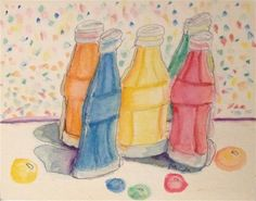 """Daily Paintworks - """"The Five Flavors Of Nik.Nip"""" - Original Fine Art for Sale - © Mary Aikens Art Gallery, Daily Painting, Small Canvas, Watercolor Paintings, Canvas, Original Fine Art, Painting, Art, My Arts"""