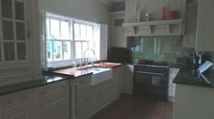 Clive Christian Kitchen, Butler Sink, Amana Fridge Freezer, Worktops