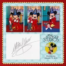 Character pic with autograph - might have to do this with some of our Disney pics.