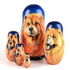 Chow Chow Stacking Doll