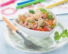 Salade de pâtes au jambon et petits légumes : http://www.cuisineaz.com/recettes/salade-de-pates-au-jambon-et-petits-legumes-82248.aspx