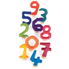 Waldorf style birthday ring numbers