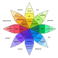 Helpful visual of the 8 basic emotions with nuances. Thanks Six Seconds
