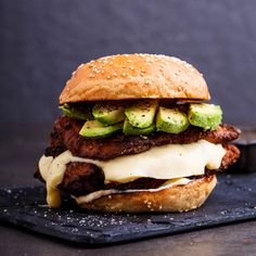 Let's just take a moment to look at this burger. Really look at it. Yep, that chicken is ridiculously crispy. Oh yes, that is half of a perfectly ripe avocado on top. And yup, you guessed it, that's mozzarella just slowly melting it's way down. Is it ridiculously big? You betcha. Is it flipping delicious? […]