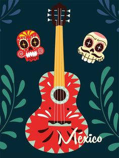 Guitar Musical Instrument, Music Instruments, Independence Day, Musicals, Mexico, Stock Photos, Prints, Design, Diwali
