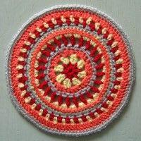 Crochet Mandala Wheel made by Lyndsey, North Yorkshire, UK for yarndale.co.uk
