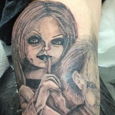 Bride of chucky tattoo designs and brides on pinterest for Bride of chucky tattoo
