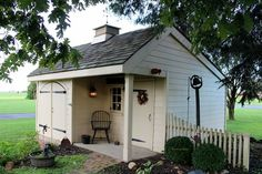 Garden Pots, Garden Sheds, Country Barns, Potting Sheds, Porch, Yard, Outdoor Structures, Garages, Outdoor Ideas