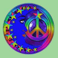 rainbow-stars-moon-peace-sign.gif (600×600) Hippie Peace, Happy Hippie, Hippie Love, Hippie Style, Hippie Chick, Peace On Earth, World Peace, Peace Sign Art, Peace Signs