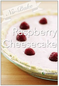 This no-bake raspberry cheesecake is quite the dessert with only 8 grams of carbs per serving.