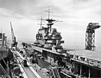 Monday, 13 October 1941  USS Hornet (CV8) prior to completion at Newport News Shipbuilding & Drydock Co.