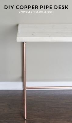 DIY-copper-pipe-desk-left-side-view-upcycledtreasures