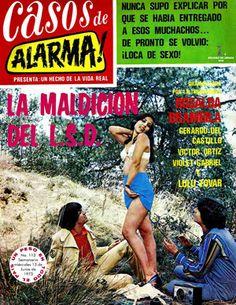 Comics Mexicanos de Jediskater: Fotonovela Casos de Alarma! No. 113, Junio 13 de 1... Comics Mexico, Real Detective, Mad Movies, Cool Album Covers, Pulp Magazine, Lectures, Mexican Art, Vintage Girls, Comic Covers