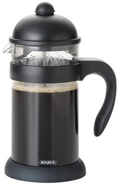BonJour  Hugo 3-Cup Unbreakable French Press, Black - http://teacoffeestore.com/bonjour-hugo-3-cup-unbreakable-french-press-black/
