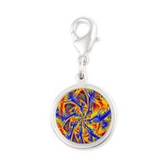 Order In Chaos Silver Round Charm> Multicolour> Rosemariesw Digital Designs