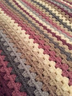 Granny stripe blanket. I like the colors in this afghan.