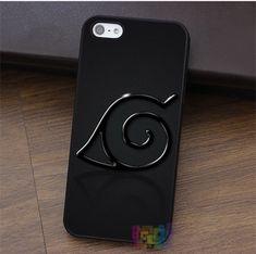 Ninja Logo From Manga Naruto fashion cell phone case for iphone 4 4s 5 5s 5c SE 6 6s 6 plus 6s plus 7 7 plus #qx0764 - free shipping worldwide