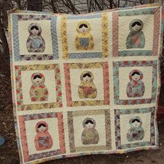George's babushka quilt for the school auction- adorable!