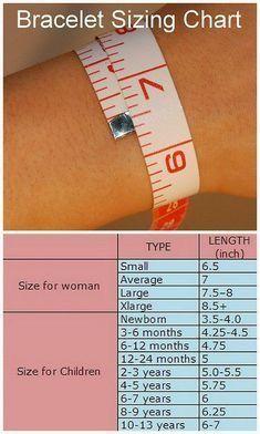 Bracelet sizing guide