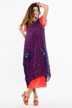 Otantik Meltem Çiçekli Elbise Modelleri Mor