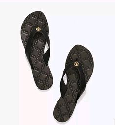 9b24d68a464ae TORY BURCH MONROE THONG Women Flip Flops Size US 9M Black Leather Worn  once!  fashion  clothing  shoes  accessories  womensshoes  sandals (ebay  link)