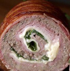 Best Recipes Rollo de carne : Like Recipes Mexican Food Recipes, Beef Recipes, Vegan Recipes, Dinner Recipes, Cooking Recipes, Vegan Meals, Bien Tasty, Meat Rolls, Cooking Time