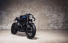 Download wallpapers 4k, BMW R nineT, superbikes, 2017 bikes, bobber, german motorcycles, BMW