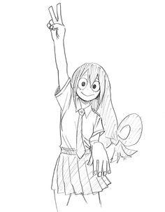Anime Character Drawing, Manga Drawing, Manga Art, Manga Anime, Character Art, Anime Art, Character Design, My Hero Academia Tsuyu, My Hero Academia Manga