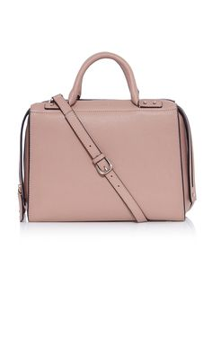 Large leather box bag | Luxury Women's work | Karen Millen Large leather box bag  Pink soft grain leather twin zip closure large box bag with central storage divider, stud handle detailing, interior swing pocket and detachable shoulder strap. Measures 32 x 16 x 25CM. GX129  €450.00 - See more at: http://www.karenmillen.com/large-leather-box-bag/bags/karenmillen/fcp-product/01441058#sthash.BYj0P93T.dpuf