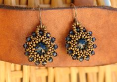 Beaded Rivoli Earring Tutorial {Video} - Jewelry Tutorial Headquarters