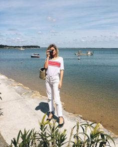 Pin for Later: 47 Ridiculously Stylish Ways to Wear Your Graphic Tee To Finish a Monochrome Look With Espadrilles