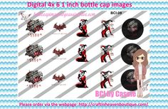 1' Bottle caps (4x6) Harley Quinn BCI-09 celebrities bottle cap images #celebrities #bottlecap #BCI #shrinkydinkimages #bowcenters #hairbows #bowmaking #ironon #printables #printyourself #digitaltransfer #doityourself #transfer #ribbongraphics #ribbon #shirtprint #tshirt #digitalart #diy #digital #graphicdesign please purchase via link http://craftinheavenboutique.com/index.php?main_page=index&cPath=323_533_42_60