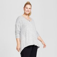 For a long-sleeve top that can take you from the workweek to the weekend, add the V-Neck Cozy Long-Sleeve T-Shirt from A New Day™ to your wardrobe. The relaxed fit keeps you comfortable all day, while the crisscross fabric detail on the necklace give this staple top some stand-out style. Pair with a jacket, skirt and pumps for a day at the office and with jogger pants or jeans for relaxing on the weekend.