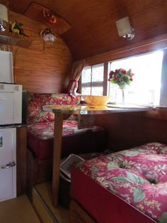 Though at first thought, I would imagine that all the dark wood interior would cause the trailer to feel smaller, it does give it a cozy, homey feel.