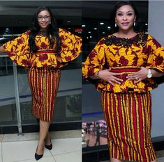 Unique Ankara Skirt and Blouse Styles Ankara Styles and Aso Ebi Styles 2020 Latest African Fashion Dresses, African Print Dresses, African Print Fashion, African Dress, Ankara Fashion, African Clothes, Africa Fashion, Ankara Skirt And Blouse, Ankara Dress