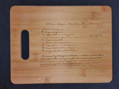 Custom engraved cutting board for Kari from 3DCarving on Etsy