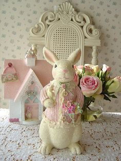 Sweet Easter display in pinks